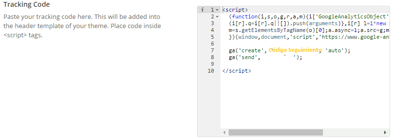 Avada Tracking code 1