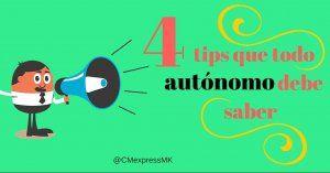 4 Tips que todo autónomo debe saber + Infografía