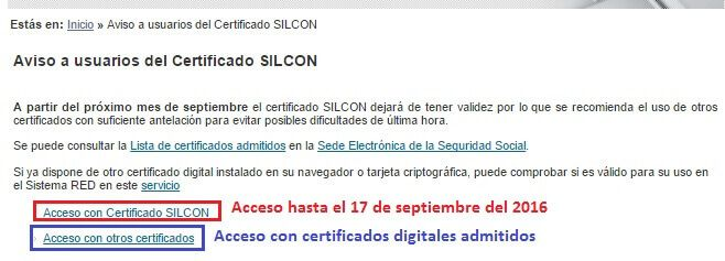 Acceso al Sistema RED certificado digital