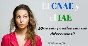 Diferencias entre el CNAE y el IAE