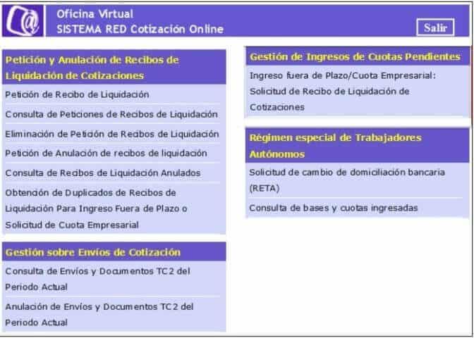 Sistema REd Cotización Internet