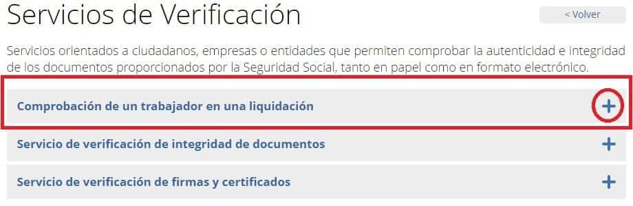 servicio verificación RNT