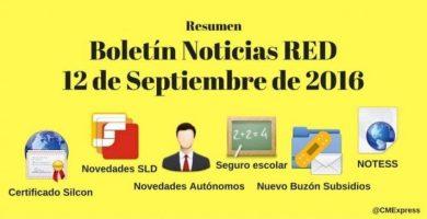 Boletín Noticias RED 12 septiembre 2016