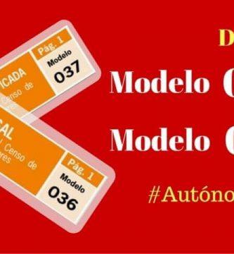 Diferencia Modelo 036 y 037
