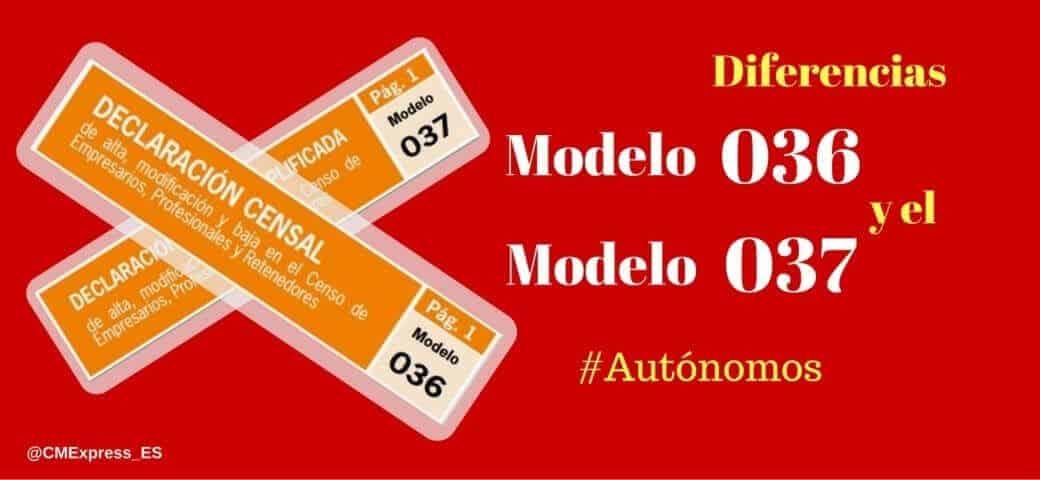 Diferencias modelos 036 y 037 AEAT