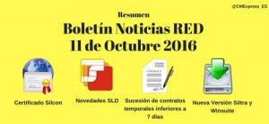 Resumen Boletín Noticias RED 11 Octubre 2016