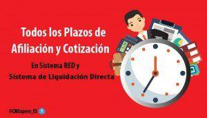 Todos los plazos de Afiliación y Cotización 301