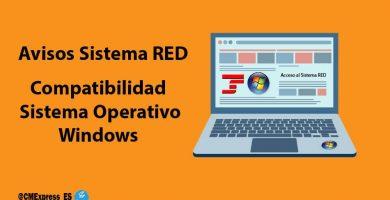 Avisos Sistema RED Sistemas Operativos compatibles