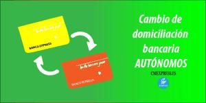 Cambio de domiciliación bancaria de autónomos