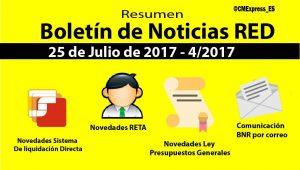 Resumen Boletín de Noticias RED 25-07-2017
