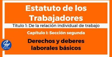 Derechos y deberes laborales básicos - ET