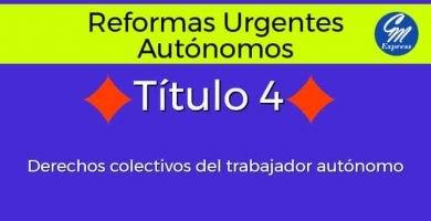 Título 4: Derechos colectivos del trabajador autónomo