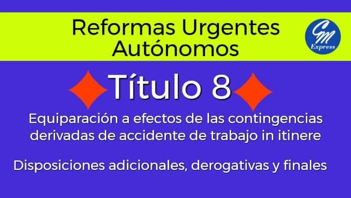 Medidas urgentes autónomos 24 octubre 2017 título 8