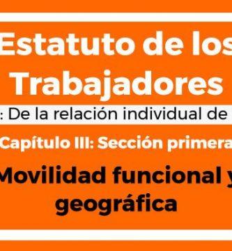 Movilidad funcional y geográfica