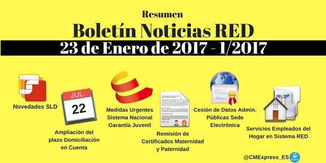 Boletín Noticias RED 23 de Enero de 2017