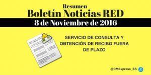 Resumen Boletín Noticias RED 8 de Noviembre 2016